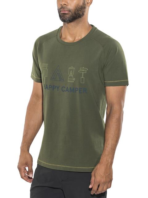 Bergans Happy Camper - T-shirt manches courtes Homme - olive